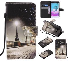 Protective Stand Wallet Purse Credit Card ID Holders Magnetic Flip Folio TPU Soft Bumper PU Leather Ultra Slim Fit Case Cover for Samsung Galaxy J3 2016 / J3 - intl
