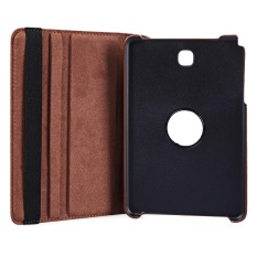 PU Leather 360 Degree Rotating Smart Folio Case for Samsung Galaxy Tab A 8.0 T350 / T351 / T355 Brown - intl