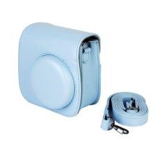 PU Leather Camera Bag Shoulder Strap For Fuji Fujifilm Instax Mini 8 (Blue)