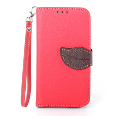 PU Leather Flip Wallet Cover For Samsung Galaxy S4 I9500 (Red)