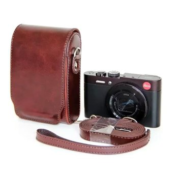 PU Leather Generic Universal Camera Case Bag Cover For Panasonic Leica Fujifilm Canon And Other Digital Camera (Coffee)