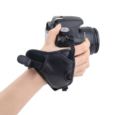 PU Leather Grip Rapid Wrist Strap Soft Hand Grip Camera Bag Universal For Canon Nikon Sony Olympus Black - Intl