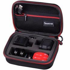 """Q-Rated Smatree SmaCase GS75 Wadah Bawaan Kecil Untuk GoPro Hero 5 Session / Hero Session Hitam Dan Merah (6.8"""" X2.7"""" X5"""") (TIDAK Termasuk Kamera Dan Aksesoris)"""