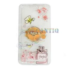 QCF Softcase Flower Untuk Xiaomi Redmi 3 Pro Case Femininity & Shine Swarovsky Holder Ring Softshell