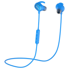 QCY QY19 Bluetooth Headset Wireless Earpphone Sport Driving English Voice New For IPhone Xiaomi PC Smartphones (Blue)