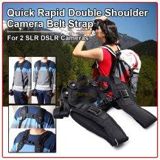 Quick Rapid Double Dual Shoulder Strap Sling Belt For Two DSLR SLR Cameras
