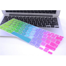 Rainbow Color Silicone Keyboard Cover Protector Skin For Macbook Air 17 / Pro 17 Inch - Multi Warna