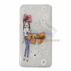 Rainbow Oppo Neo 9 A37 Softshell Animasi Paint Girly Pearl Phone Holder Ring .