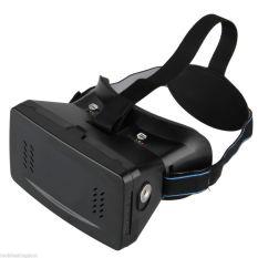 Rajawali Cardboard Head Mount Second Generation 3D Virtual Reality - Hitam