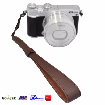 Rajawali Leather Wrist Strap For Camera-DSLR-Mirrorless-Pocket- Canon EOS M10-Nikon J5-Sony A5000-A6000- Coklat