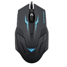 Rajfoo I5 Optical Wired USB Gaming Mouse 1600 DPI - Black / Blue