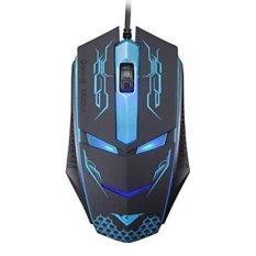 RAJFOO Terminator 1600DPI Optical Wired Usb Gaming Mouse For WOW LOL CF FPS CS MMO DOTA (Blue)
