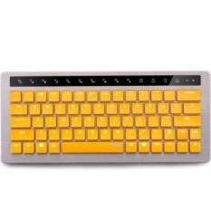 RAPOO USB Cable And Wireless 87 Keys Yellow Mechanical Keyboard KX With Yellow Switches