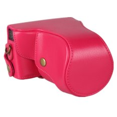 RED Leather Camera Case For Canon EOS-M EOS M 18-55mm (Intl)