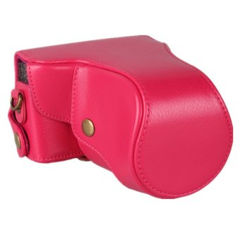 RED Leather Camera Case For Canon EOS-M EOS M 18-55mm