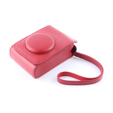 Red PU Leather Case Digital Camera Case Cover Bag For Fujifilm XQ1 XQ2 XF-1 XF1 Digital Camera - Intl