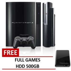 Refurbish Sony Playstation - PS3 500GB + Gratis Costum Multiman CFW + Paket Lengkap - Grade A