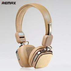 REMAX RB-200HB Wireless Bluetooth 4.1 Stereo Headphones With Microphone Wireless / Wired (Khaki) - Intl