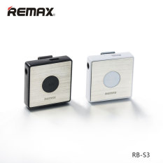Remax RB-S3 Sports Lavalier Clip Clip-on Bluetooth Headset Wireless Stereo Earphones Bluetooth V4.1 FM Radio Earphone (White)
