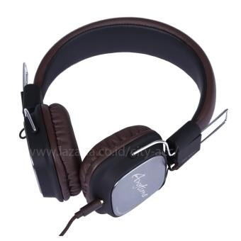 Remax RM-100H Profesional Monitoring Headphone with Microphone -Brown