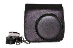Retro Camera PU Leather Carrying Case For Fujifilm Fuji Instax Mini 8 With Shoulder Strap - Black