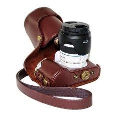 Retro PU Leather Camera Case For Samsung NX300 NX300M (Coffee)