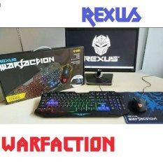 Rexus - KBM-RX-VR1 REXUS VR1 WARFACTION KEYBOARD + MOUSE + MOUSEPAD GAMING