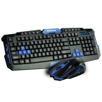 Rexus Keyboard + Mouse Wireless VR2 Multimedia Gaming 6D Warfaction- Hitam