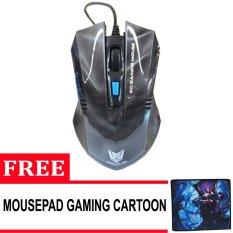 Rexus RXM-G5 Mouse Gaming USB 2400Dpi + Gratis MousePad Gaming Anti Slip - Hitam