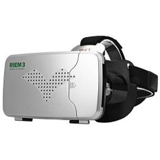 RITECH Riem 3 Virtual Reality 3D VR Glasses Head Mounted For Smartphone Size: 160x90mm - Black
