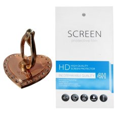 RoseGold Love Ring Stand (firmly stick on phone / phone cover case) + Gratis 1 Clear Screen Protector for Sony Xperia M4 Aqua
