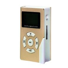S & F 32GB Mini USB Clip MP3 Player LCD Screen Support Micro SD TF Card (Gold) - Intl