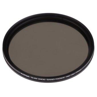 S & F FOTGA 77mm Slim Fader Variable ND Filter Neutral Density ND2 N4 To ND400 (Black)