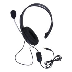 S & F Single Earpiece Stereo Headphone with Microphone Volume Control For Sony PS4
