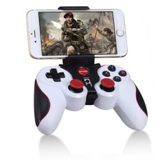 S5 Bluetooth Wireless Game Controller, Gamepad Joystick For IOS IPhone IPad, Android Smart Phone, Smart TV (White)