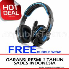 Sades G-POWER SA-708 Headset Gaming with Microphone - Biru Hitam