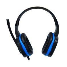 Sades Headset Gaming Extream Chopper SA-711 High Quality Bass - Hitam-Biru