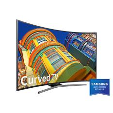 Samsung 55 Inch UHD 4K Curved Smart LED TV UA55KU6500 - Hitam