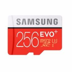 Samsung EVO Plus microSDXC UHS-I Card with Adapter 256GB (95MB/s) Class 10 - Merah