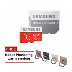 Samsung MicroSDHC Evo Plus 16GB / 80MB/s with Adapter - Merah + iRing Mobile Phone