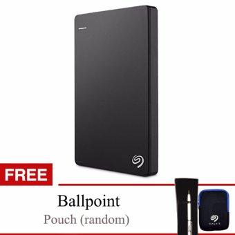 "Seagate Backup Plus Slim 1TB 2.5"" USB 3.0 - Hitam + Gratis Pouch & Ballpoint"