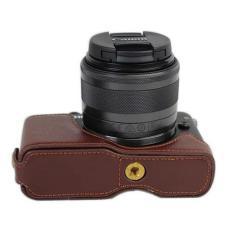 Setengah Body bawah kamera PU penutup Case untuk Canon EOS M10 (kopi)- International