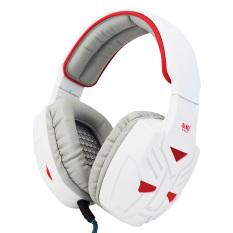 Shine Deep Bass Rotable Audio Earphone (White + Red) Not Luminous - Intl
