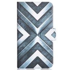 Shine Steel Design Card Slot Magnetic PU Leather Flip Case Cover Compatible For Nokia Microsoft Lumia 430