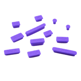 Silicone Rubber Anti-Dust Plug Cover Stopper for MacBook Air Retina 11 13 Ports Purple - intl