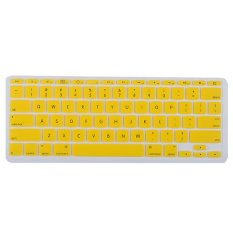 Silicone Soft Keyboard Cover Skin Protector For Apple Macbook Air 11.6inch Yellow (Intl)