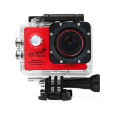 SJ7000 Action Camera 2-inch LCD Wifi Waterproof Sports Cam DV Camcorder Outdoor For Bicycle Motorcycle Diving Swimming Sliver With Free Accessories Kit_Red - Intl