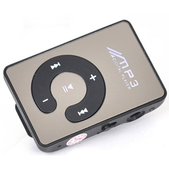 Skytop MP3 Player TF Card With Small Clip - Hitam