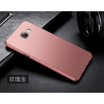 Slim Fit Shell Hard Full Protective Anti-Scratch Resistant Cover Case for Samsung Galaxy A3 2016(Rose gold) - intl