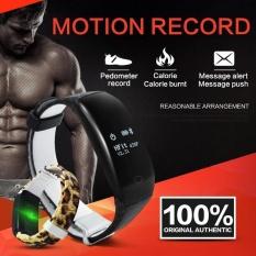 Smart Bracelet Heart Rate Monitor Waterproof Step Counter OledSmartBand Message Call Reminder Band - Intl